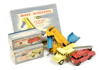 Dinky a boxed group (1) 964 Elevator Loader - yellow/blue