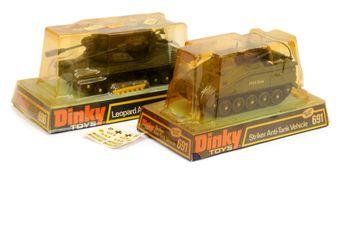 Dinky Military pair (1) 696 Leopard Anti-Aircraft Tank