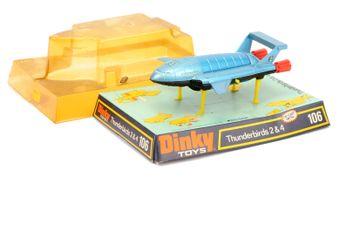 "Dinky 106 ""Thunderbirds"" - Thunderbird 2 - metallic blue"