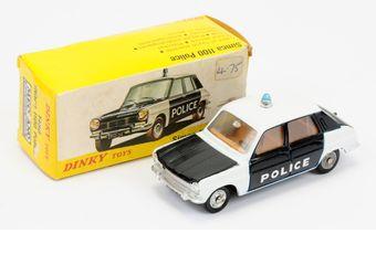 Spanish Dinky 1450 Simca 1100 Police Car - white/black