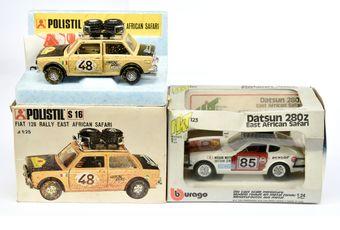Polistil 1/25th scale a boxed pair (1) S16 Fiat 128