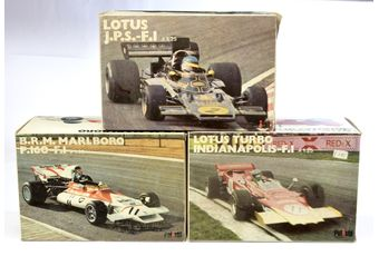 Polistil (Italy) 1/25th scale boxed group of Racing Cars