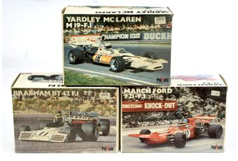Polistil (Italy) a boxed group of 1/25th scale Racing Cars