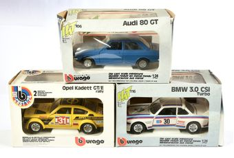 Bburago/HAT 1/24th scale a boxed group