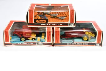 Britains a boxed group of Farm Implements