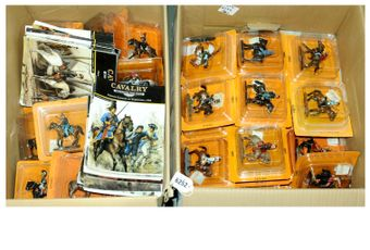 Del Prado a large group of Mounted Figures from the Cavalry Through