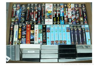 Large Quantity of TV and Film related VHS Videos