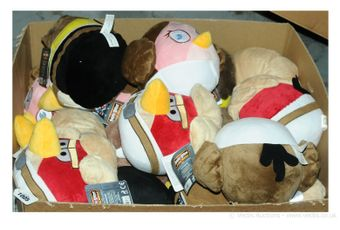 """Star Wars a group of """"Angry Birds"""" Plush Toys"""