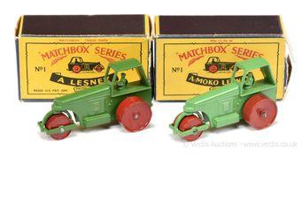 Matchbox Regular Wheels 2 x 1c Aveling Barford Diesel Road Roller