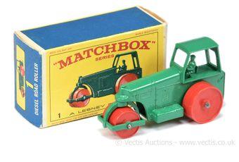 Matchbox Regular Wheels 1d Aveling Barford Diesel Road Roller