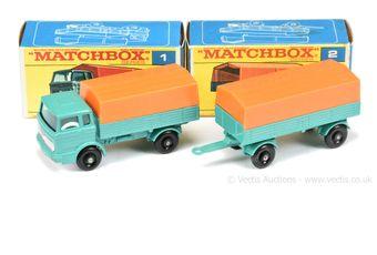 Matchbox Regular Wheels 1e Mercedes LP Covered Truck