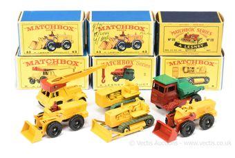 Matchbox Regular Wheels group of Construction vehicles