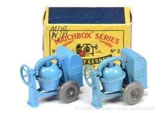 Matchbox Regular Wheels 2 x 3a Site Mixer