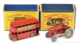 Matchbox Regular Wheels 4a Massey Harris Tractor