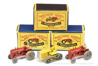 Matchbox Regular Wheels 2 x 4a Massey Harris Tractor