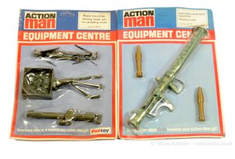 Palitoy Action Man vintage Equipment Centre carded pair:
