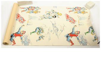 Gerry Anderson Captain Scarlet vintage unused Roll of Wallpaper,