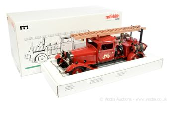 Marklin 19034 tinplate clockwork Fire Engine
