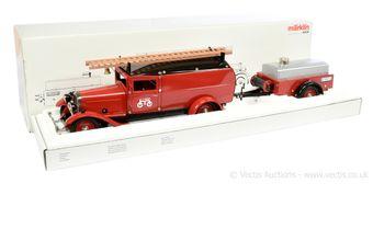 Marklin 19035 tinplate clockwork Fire Tender