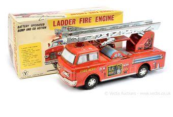 """Yonezawa (Japan) 623 large tinplate """"Ladder Fire Engine"""""""