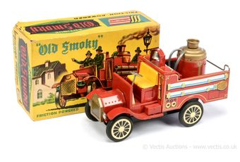 "SSS ""Old Smokey"" tinplate vintage Fire Engine"