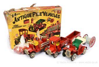 "Cragstan (SSS Toys of Japan) ""Antique Fire Vehicles Set"""