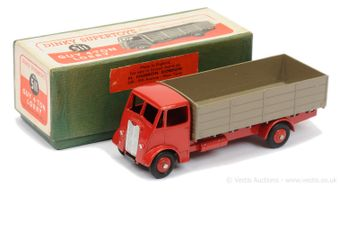 Dinky 511 Guy (1st Type) 4-ton Lorry - red cab