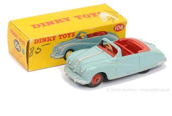 Dinky 106 Austin Atlantic Convertible - pale blue