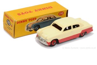 Dinky 170 Ford Fordor Sedan Low-line two-tone pale cream