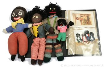 Collection of four gollies