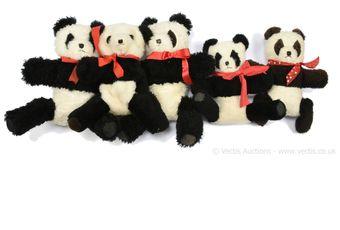 Wendy Boston five vintage panda bears