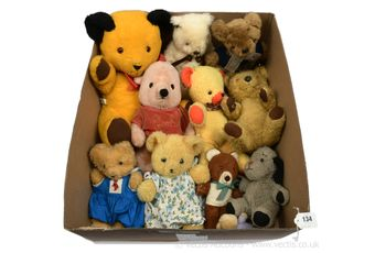 Vintage plush teddy bears x 11
