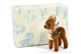Steiff Christmas fawn, white tag 036705, LE 1500, 2012
