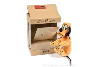 Steiff Disney Pluto Ornament, white tag 680007, LE 1930