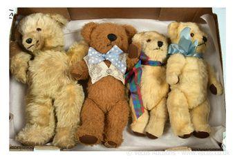 Four British vintage teddy bears: