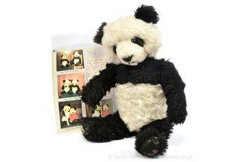 "Chad Valley ""Ming"" vintage panda bear, British, 1939"