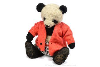 "Chad Valley ""Big Panda"" vintage panda bear, British, 1939"