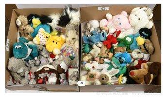 Collection of vintage plush toys,