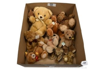 Collection of plush teddy bears,