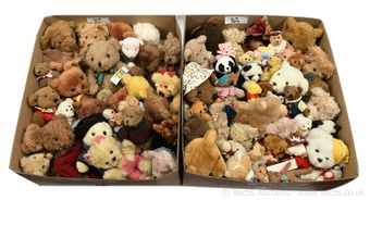 Collection of plush teddy bears, includes: Deans; Lesser