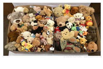 Plush teddy bears, assorted