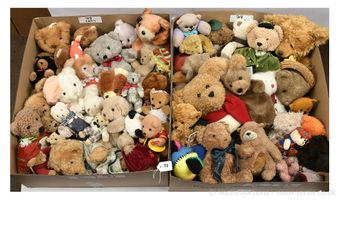 Collection of plush teddy bears