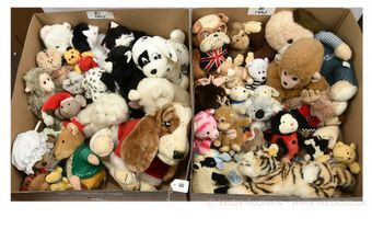 Collection of plush animals