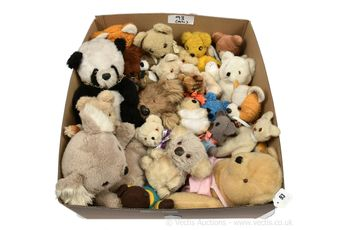 Collection of vintage mainly plush teddy bears
