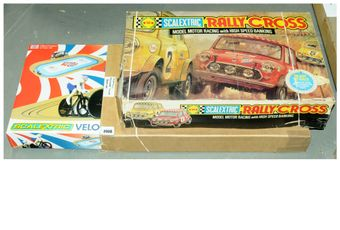 Scalextric a boxed pair to include Scalextric Velodrome Cycling