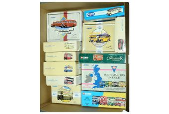 Corgi a boxed Bus group to include 97067 Routemasters in Exile