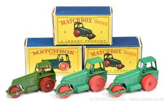 Matchbox Regular Wheels 1c Aveling Barford Diesel Road Roller