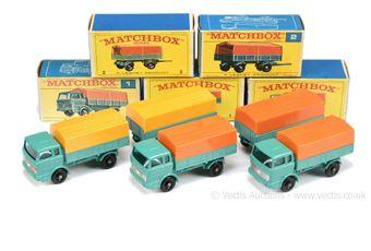 Matchbox Regular Wheels 3 x 1e Mercedes LP Covered Truck