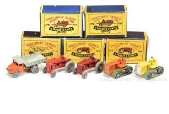 Matchbox Regular Wheels group of early models