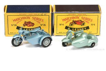 Matchbox Regular Wheels 4c Triumph Motorcycle & Sidecar